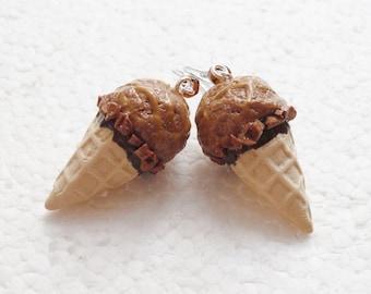 Chocolate Ice Cream Earrings.