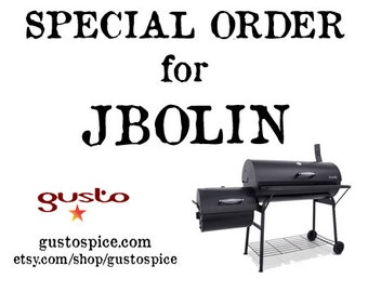 SPECIAL ORDER for JBOLIN - Nine Spicy Gift Sets - Jalapeno, Chipotle, and Habanero Barbecue Spice Rubs