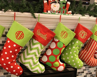 Christmas Stockings Christmas Stocking  Christmas Stockings Personalized Christmas Stocking 16 Patterns Availble