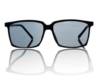 Roy Black Square Sunglasses X American Deadstock Eyewear
