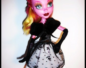 """Monster 17""""  Doll Outfit  - Haute Couture - Dior inspired Outfit"""