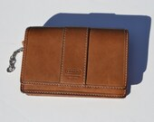 Vintage Coach all leather brown small wallet