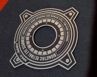 Custom Retina Eye Scan Peephole Plate PROP Peep Hole Sci-fi IRON MAN Scanner