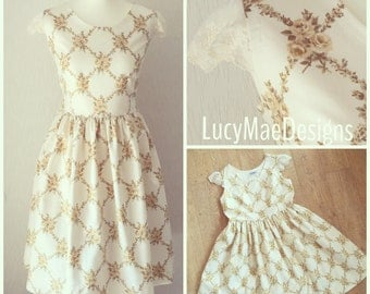 Handmade vintage fabric dress
