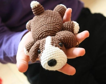 PATTERN: Amigurumi Crochet Dog - Lucky the Puppy - Crochet PDF Tutorial - In English