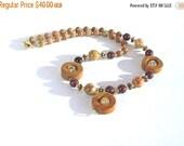 Clearance Sale OOAK Gemstone Necklace - Jasper - Rhyolite - Metal Spacers - Barrel Clasp - Handmade