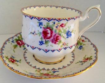 "Beautiful Royal Albert ""Petit Point"" Vintage Teacup"