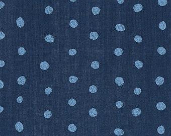 Nani Iro Pocho Iris, deep blue, cotton double gauze fabric, by the yard
