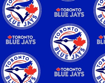 MLB Toronto Blue Jays Fleece Fabric by the yard
