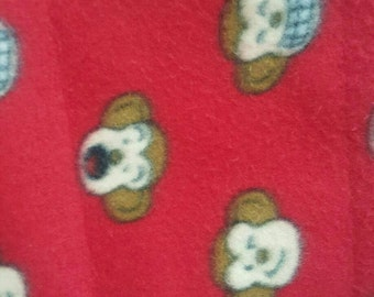 Silly Monkey Print Fleece Fabric by the yard