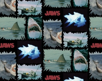 Classic Jaws Cotton Fabric by the yard