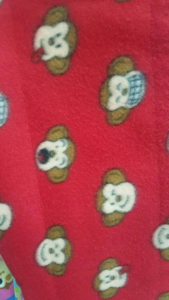 Silly monkey print fleece fabric by the yard for Baby monkey fabric prints