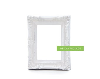 "White Picture Frame Vintage Shabby Chic 5"" x 7"""
