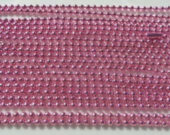 5, 70cm, 2mm, Pink Ball Chain Necklace 2mm with Connector 70cm, 5 piece package includes