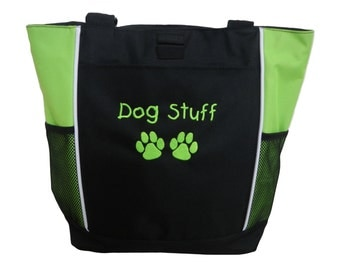 Tote Bag Personalized Paw Prints Dog Groomer Walker Puppy K9 Police Agility Dog Training Unit