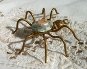 Spider Brooch ~ Blister Pearl body ~ Brass ~ Gorgeous Vintage ~ Very Chic Insect