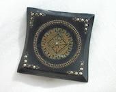 Black Deco Brooch ~ Elegant ~ Tiny Marcasite stones ~ Gorgeous Vintage ~ Very Chic