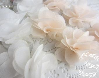 """30pcs 5cm 1.96"""" wide chiffon rose dress lace appliques patches 3J941 free ship"""