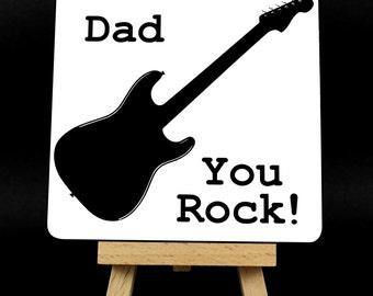 Dad You Rock! Guitar Coaster