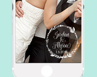 Wedding Snapchat GeoFilter | Personalized Event Snapchat Filter