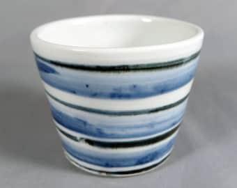 Taeko Tanaka, Vintage Studio Pottery Porcelain cup or chawan, mingei, MacKenzie student