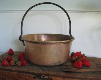 Huge, Heavy, Handsome old bronze cauldron ~  a 4 1/4 lb. jam pan