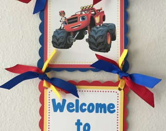 Blaze and the Monster Machines Door Sign