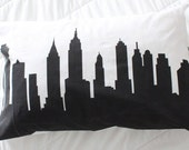 New York Skyline Cityscape Silhouette Pillow Case