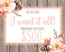 Custom Logo Design Branding Package with Logo, Submark, Business Card & More Small Business and Photography  Marketing Package OOAK