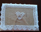 Burlap and lace guest book weddings 6 X 8  Donna Su Domichcreations etsy