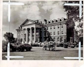Vintage Hood College Frederick Maryland Alumnae Hall Newspaper Photograph 1945
