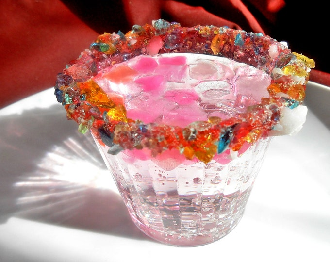 PRINCESS BIRTHDAY PARTY, Rock Sugar, Candy Rimmed,Kids Party Glasses, Candied Cups, Sweetened Drinks, Rock Sugar Party Cups, Pat.Pending