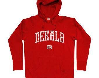 Dekalb 815 Illinois Hoodie - Men S M L XL 2x 3x - Dekalb Hoody, Sweatshirt, De Kalb, Northern Illinois - 4 Colors