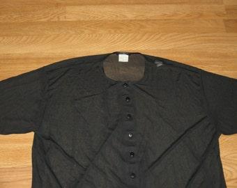 Vintage 1990s Benetton Italian Rave Avant Garde Minimalist Sheer Shirt.