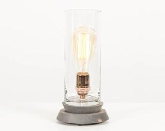 Lantern Pedestal Lamp- Lighting, Edison Bulb Table Lamp, Modern Lighting