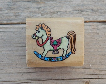 Rocking Horse Rubber Stamp