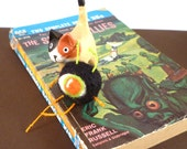 Ninja Alien Catnip Cat Toy - Needle Felted Wool