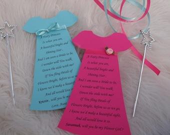 Flower Girl Invitation Will You be my Flower Girl Card with Magic Wand  Ask Flower Girl, Flower Girl Card Wedding Invitation, Wedding Card