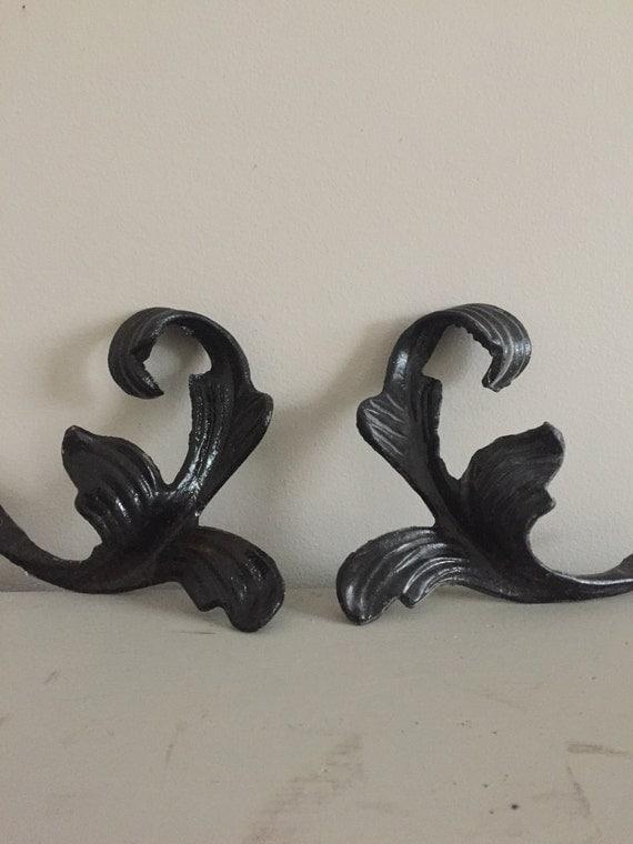 Pair Of Metal Curtain Tie Backs