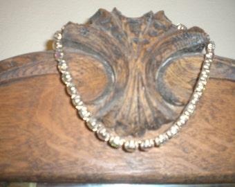 Aurora  Borealis Rhinestones Choker Collar Necklace