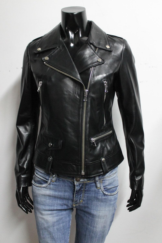 Italian leather jackets for women