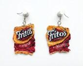 Mini Fritos Bag Dangle Earrings