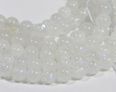 "Moonstone 6.3mm 14 1/4"" inch Strand Round Beads Natural Gemstone Beads Jewelry Making Supplies"