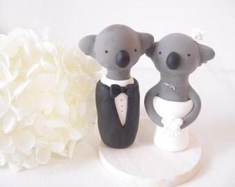 Love Handmade Wedding Cake Toppers - Koala with base
