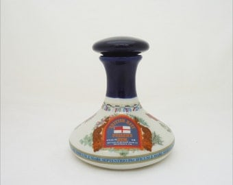 Vintage Wade British Navy Pussers's Rum Bottle/Decanter, Wade Rum Bottle With Stopper, Collectable Wade