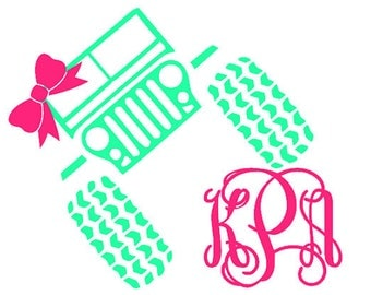 Monogrammed jEEP Decal /RTIC YETI