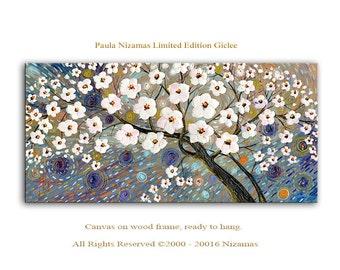 Abstract Art Giclee Print on canvas Interior Decor P Nizamas Melody of Spring ready to hang