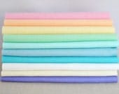 Wool Felt Sheets - 10 pieces - 'Macaron' collection - 100% wool felt