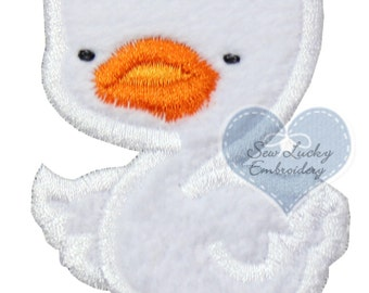 Baby Duck Applique Embroidered Patch, Sew or Iron on