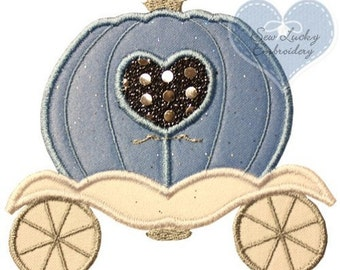 Princess Carriage Embroidered Patch, Sew or Iron on